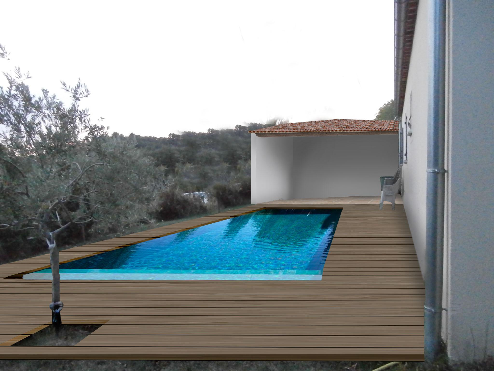photomontage création piscine