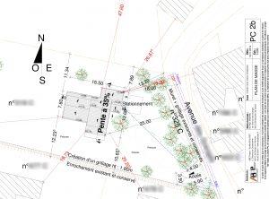 plan de masse Permis de construire maison individuelle