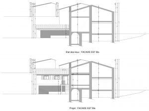 plan de coupe de projet de permis de construire