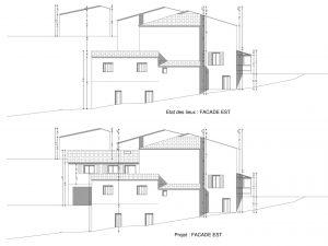 facade modifié par projet d'extension
