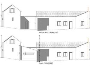 plan de facade permis de construire pour extension d habitation
