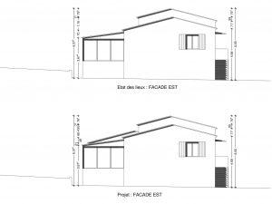 plan de facade création garage