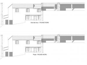 facade inchangée par le projet