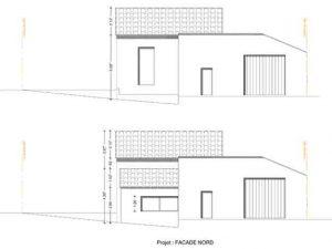 plan de facade projet permis de construire pour extension d habitation