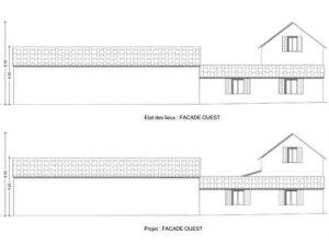 permis de construire pour extension d habitation plan de facade