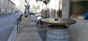 terrasse bar Entrechaux