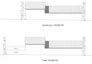 plan de facade déclaration préalable terrasse