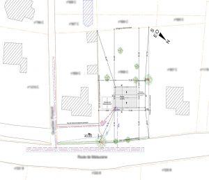 plan de masse permis de construire le Crestet