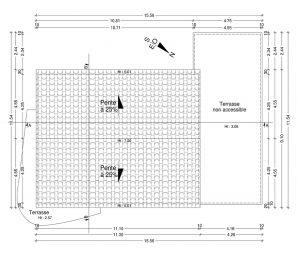plan de toiture permis de construire Crestet