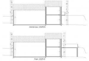 DP 3 plan de coupe modification terrasse