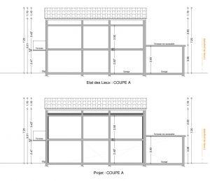plan de coupepermis de construire renovation maison le crestet