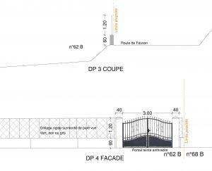 plan de facade declaration travaux cloture