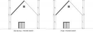 plan de facade renovation grange