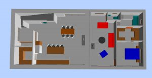 plan 3D aménagement renovation grange