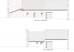 plan de facade reconstruction grange