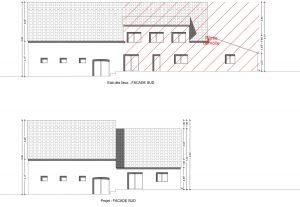 PCMI 5 plan de facade permis de construire