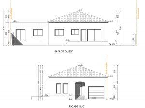 dessiner un plan de façade de maison