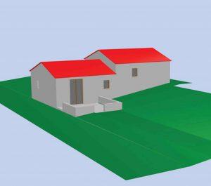 plan 3D maison declaration préalable