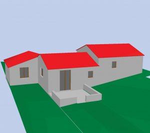 plan projet 3D declaration préalable 3D