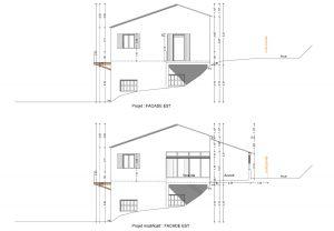 plan de facade permis de construire le Poet en Percip
