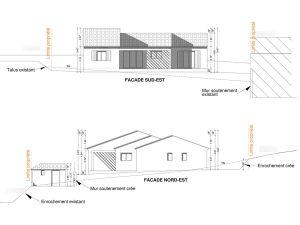 plan de facade permis de construire maison neuve