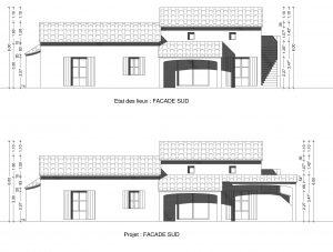 exemple de plan de facade permis de construire