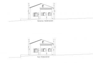 plan de facade cabanon en Provence